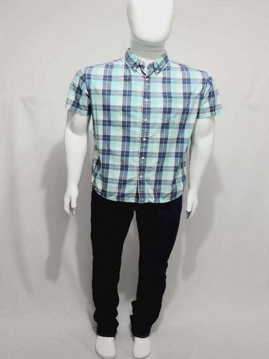 Camisa de vestir manga corta Premium de Caballero Talla M Semi nuevo