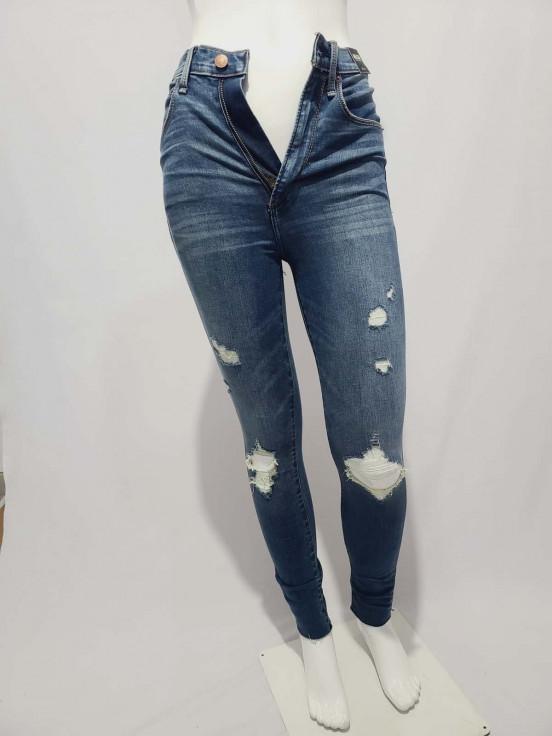 Pantalón jeans strech Super premium de Dama Nuevo Marca Abercrombie