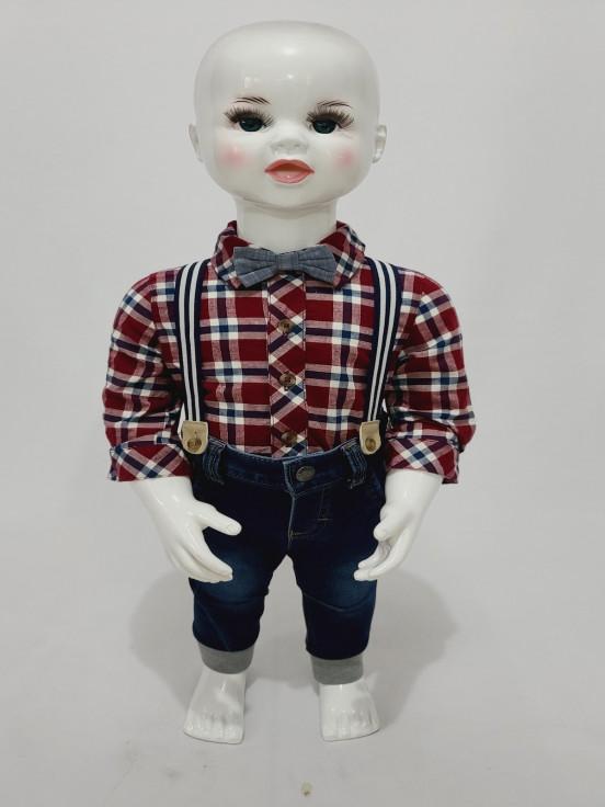 Camisa/Pantalon/corbatín Super premium de Niño Talla 0-3 M Nuevo